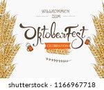 oktoberfest  handwritten...   Shutterstock .eps vector #1166967718