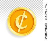 national currency gold coin... | Shutterstock .eps vector #1166967742