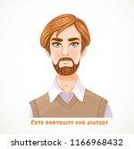 cute gray eyed bearded blond... | Shutterstock .eps vector #1166968432