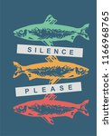 silence please conceptual t...   Shutterstock .eps vector #1166968765