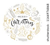 merry christmas greeting card... | Shutterstock .eps vector #1166976868