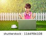 asian little chinese girl... | Shutterstock . vector #1166986108