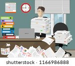 stress at work concept flat... | Shutterstock .eps vector #1166986888