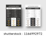 vector template menu for cafes... | Shutterstock .eps vector #1166992972