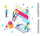 isometric business concept ... | Shutterstock .eps vector #1166993245