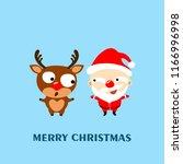 merry christmas  cartoon... | Shutterstock .eps vector #1166996998