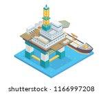 modern isometric offshore oil...   Shutterstock .eps vector #1166997208