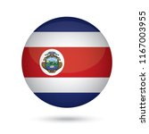 Costa Rica Glossy Round Button. ...