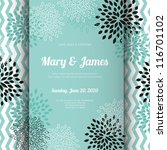 wedding card or invitation with ... | Shutterstock .eps vector #116701102