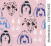 vector naive hand drawn breed... | Shutterstock .eps vector #1167011632