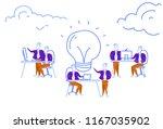 business people brainstorming... | Shutterstock .eps vector #1167035902