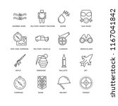 set of 16 simple line icons... | Shutterstock .eps vector #1167041842