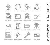 set of 16 simple line icons... | Shutterstock .eps vector #1167043135