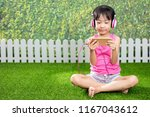 asian little chinese girl... | Shutterstock . vector #1167043612
