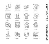 set of 16 simple line icons... | Shutterstock .eps vector #1167046255