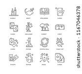 set of 16 simple line icons... | Shutterstock .eps vector #1167046378