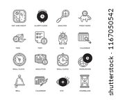 set of 16 simple line icons... | Shutterstock .eps vector #1167050542