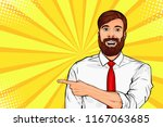 bearded hipster man with...   Shutterstock .eps vector #1167063685