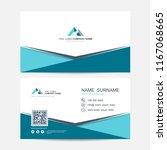 business card vector background | Shutterstock .eps vector #1167068665