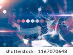 abstract blue illustration.... | Shutterstock . vector #1167070648