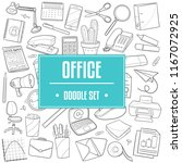 office work traditional doodle... | Shutterstock .eps vector #1167072925