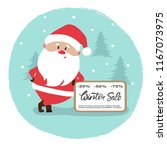 santa claus with christmas sale ... | Shutterstock .eps vector #1167073975