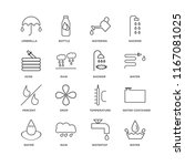 set of 16 simple line icons... | Shutterstock .eps vector #1167081025