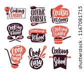 collection of lettering written ... | Shutterstock .eps vector #1167081715