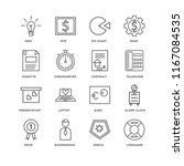 set of 16 simple line icons... | Shutterstock .eps vector #1167084535