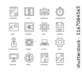set of 16 simple line icons...   Shutterstock .eps vector #1167084565