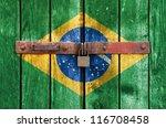 brazilian flag on the... | Shutterstock . vector #116708458