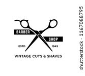 barber shop vintage retro... | Shutterstock .eps vector #1167088795