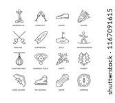 Set Of 16 Simple Line Icons...