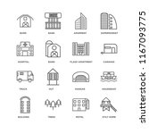set of 16 simple line icons... | Shutterstock .eps vector #1167093775