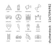 set of 16 simple line icons... | Shutterstock .eps vector #1167096982