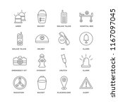 set of 16 simple line icons... | Shutterstock .eps vector #1167097045