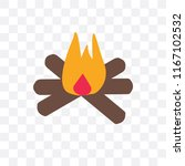 bonfire vector icon isolated on ... | Shutterstock .eps vector #1167102532