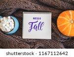 autumn background with warm... | Shutterstock . vector #1167112642