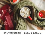 autumn and winter background... | Shutterstock . vector #1167112672