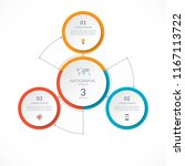 infographic circle with 3... | Shutterstock .eps vector #1167113722