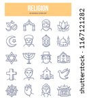 doodle vector icons of world... | Shutterstock .eps vector #1167121282