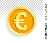 national currency gold coin euro | Shutterstock .eps vector #1167126565