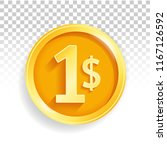 currency us dollar gold coin | Shutterstock .eps vector #1167126592