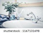 vintage mixer tap in the...   Shutterstock . vector #1167131698