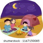 illustration of stickman family ... | Shutterstock .eps vector #1167150085