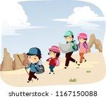 illustration of a stickman... | Shutterstock .eps vector #1167150088