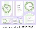 set of wedding invitation card .... | Shutterstock .eps vector #1167152038
