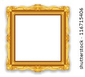 gold vintage frame. decorative... | Shutterstock . vector #116715406
