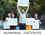 group of protesting young...   Shutterstock . vector #1167154192