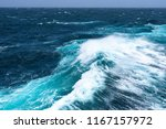 big waves at open sea. summer... | Shutterstock . vector #1167157972